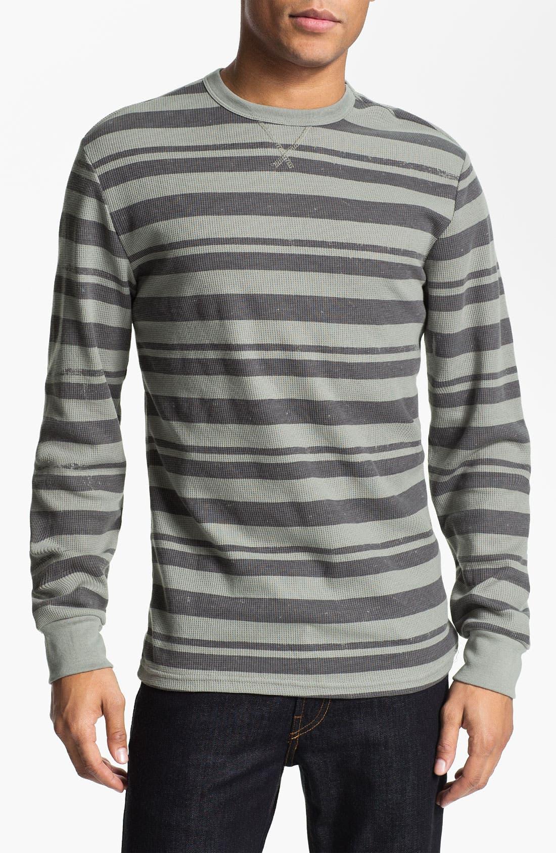 Alternate Image 1 Selected - Volcom Stripe Crewneck Thermal Shirt