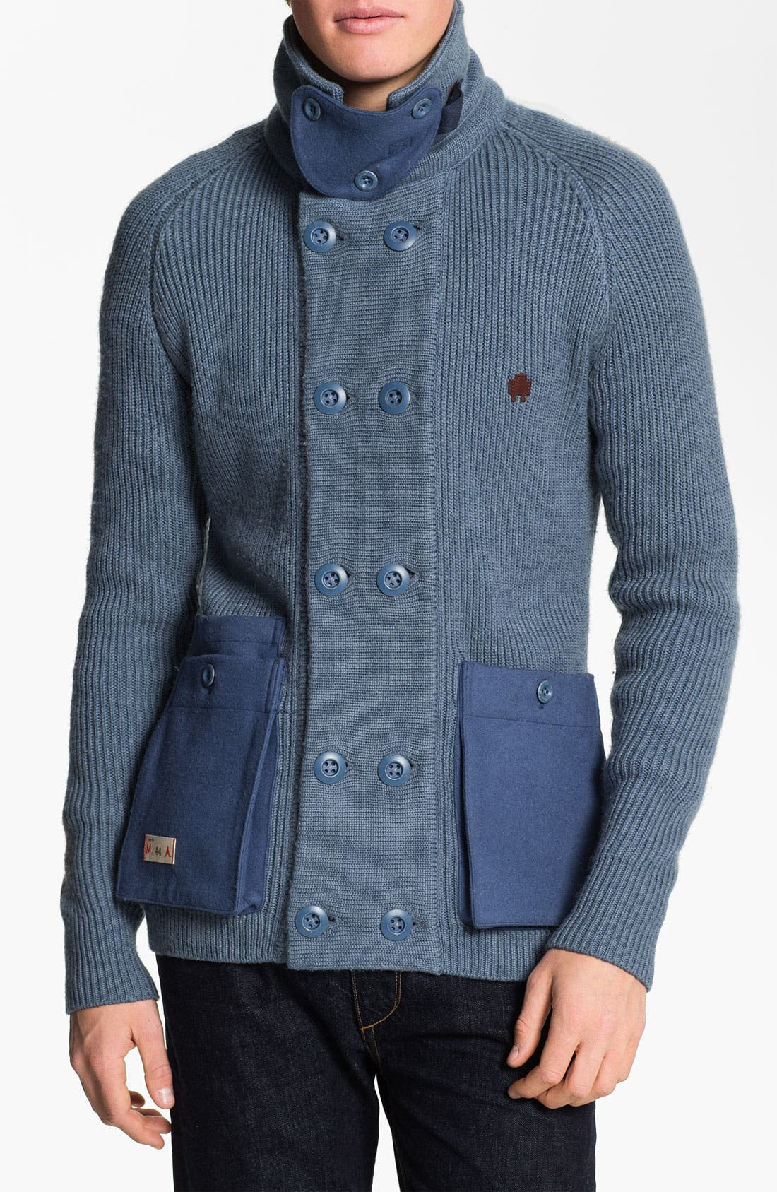 Main Image - Marshall Artist 'Officer's' Wool Blend Cardigan