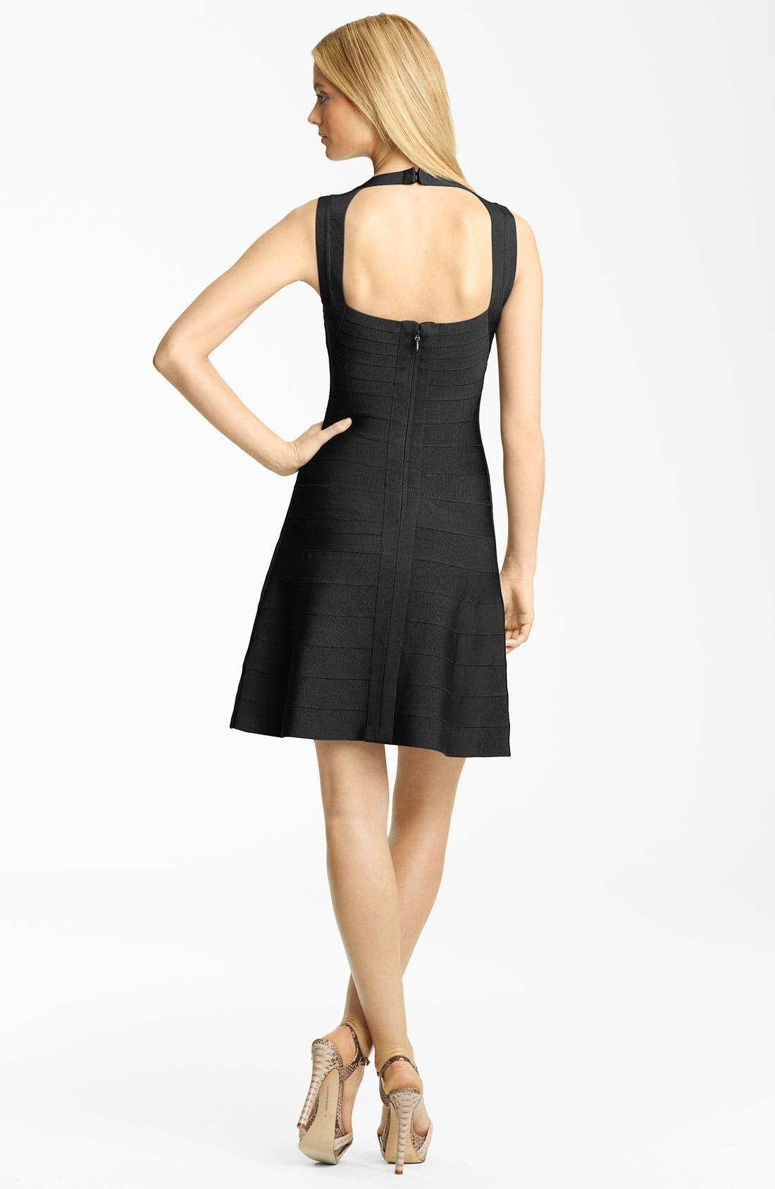 Alternate Image 2  - Herve Leger Full Skirt Bandage Dress