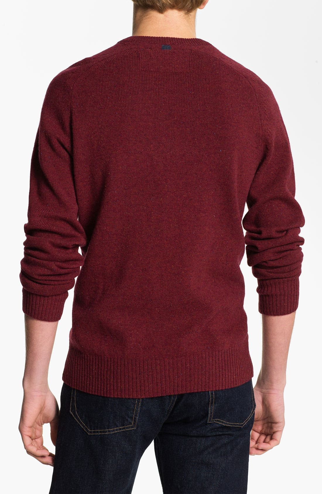 Alternate Image 2  - Original Penguin Speckled Knit V-Neck Sweater