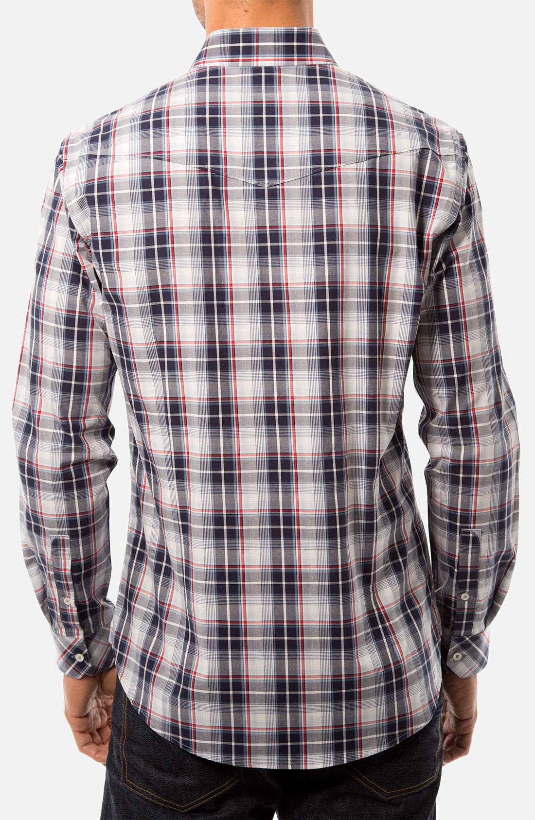 Alternate Image 2  - 7 Diamonds 'One More Day' Trim Fit Woven Sport Shirt