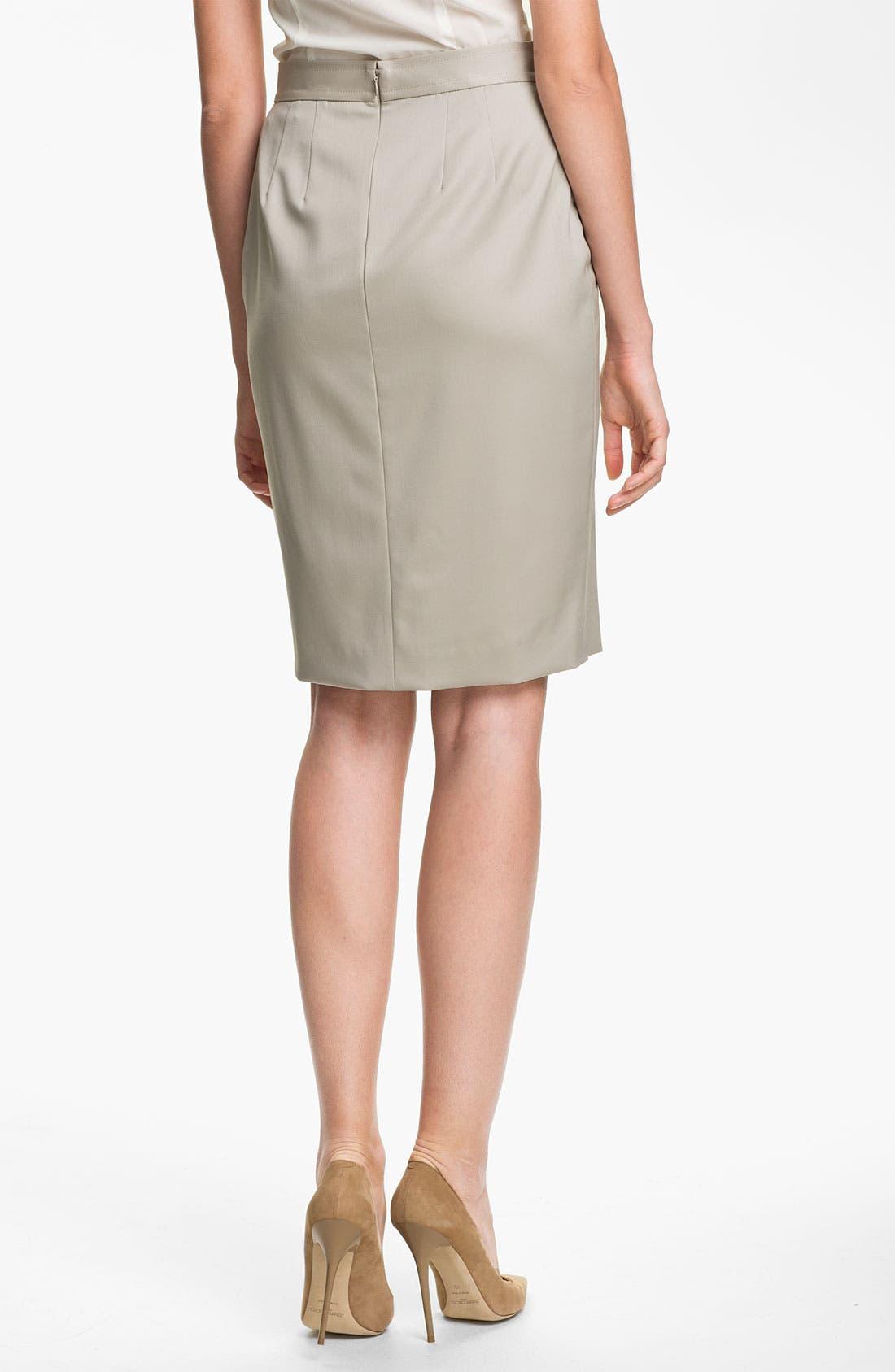 Alternate Image 2  - St. John Collection Venetian Wool Pencil Skirt