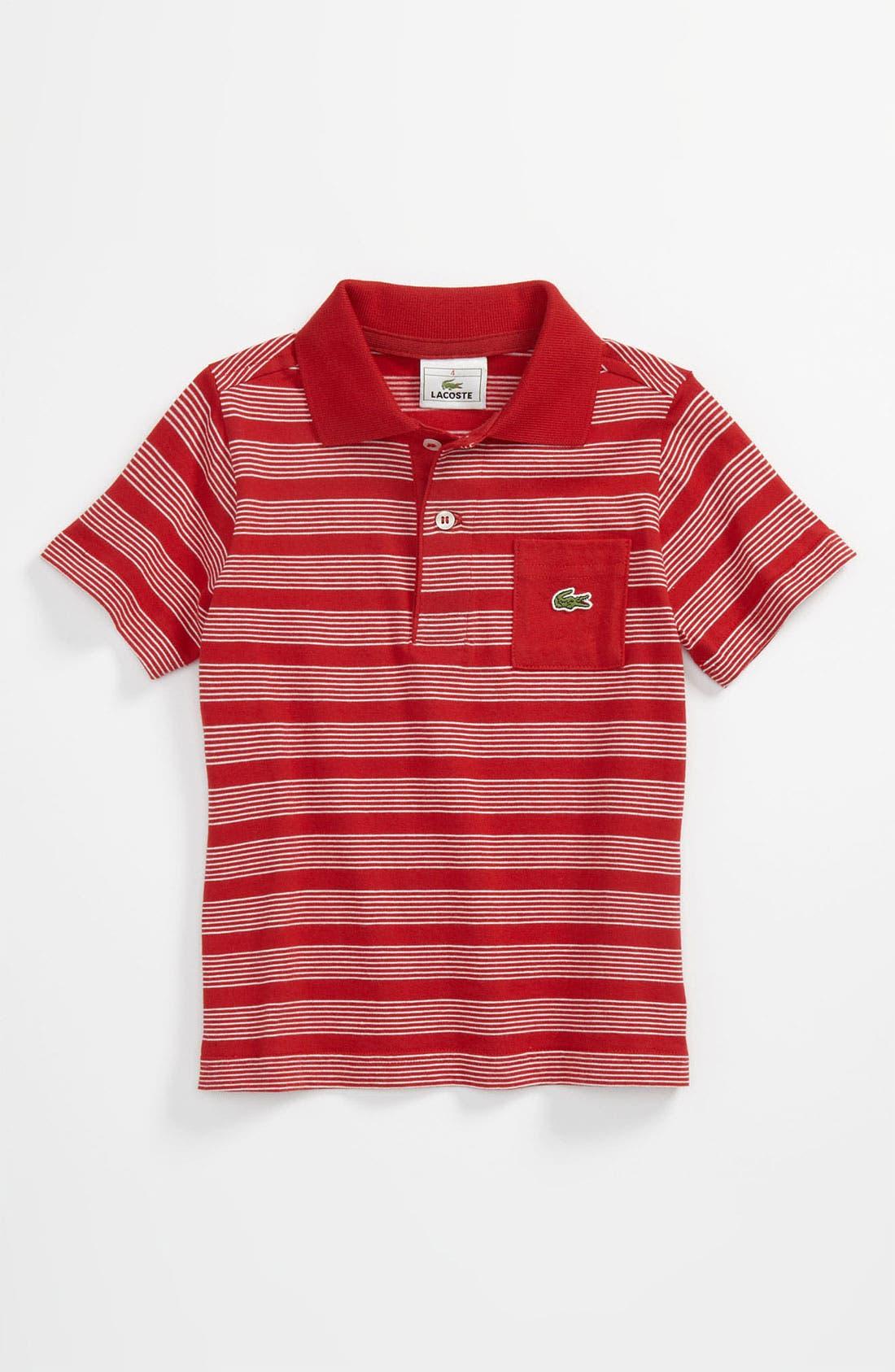 Main Image - Lacoste Stripe Polo (Toddler)