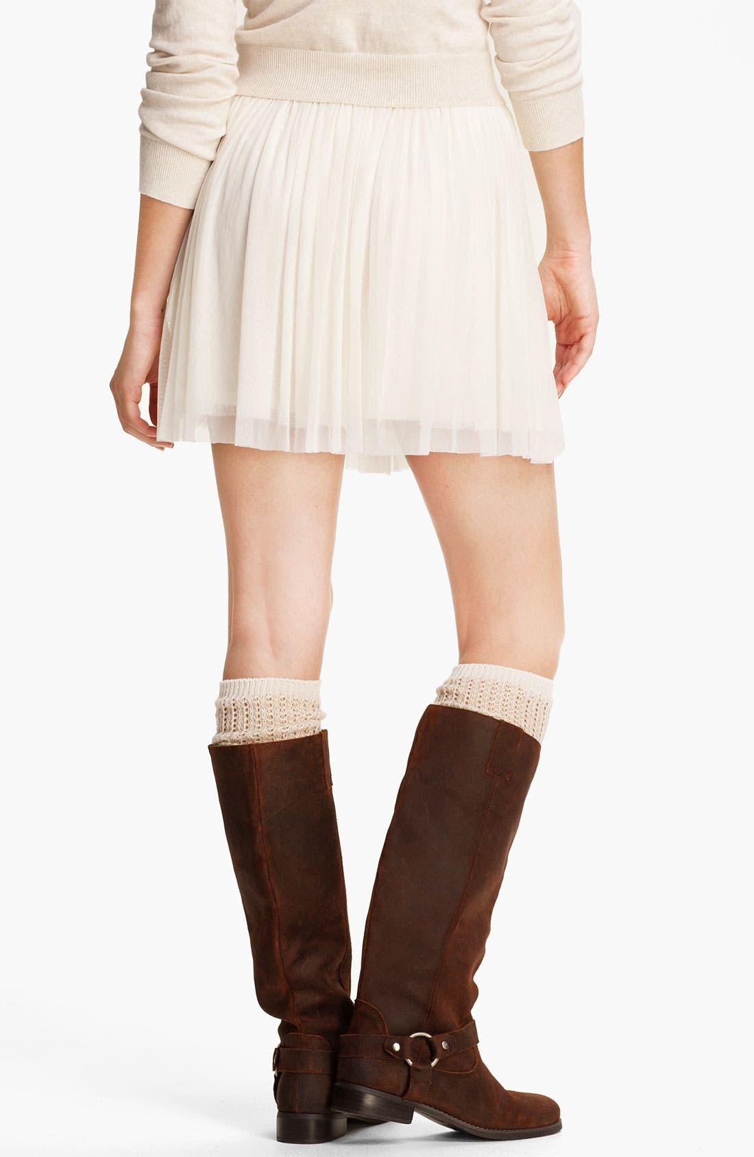 Alternate Image 2  - Lily White Tulle Skirt (Juniors)