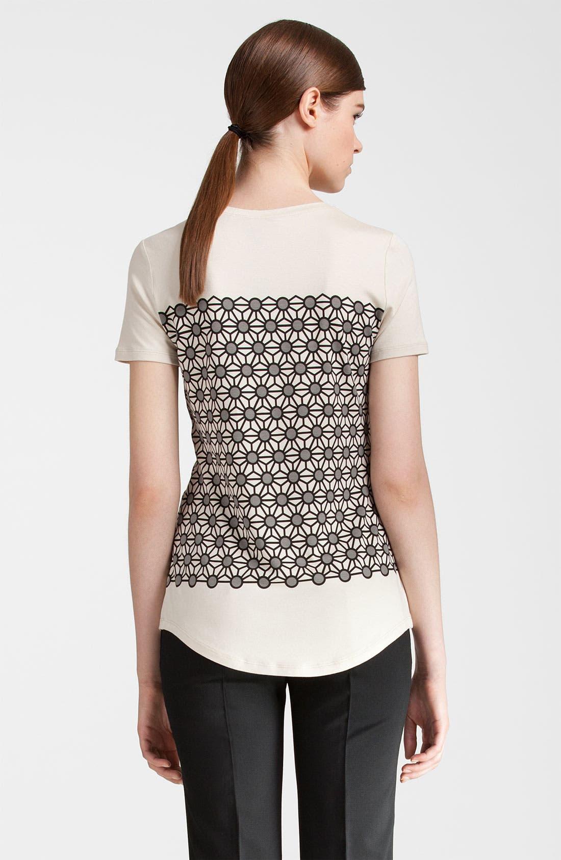 Alternate Image 2  - Jil Sander Navy Geometric Print Jersey Tee