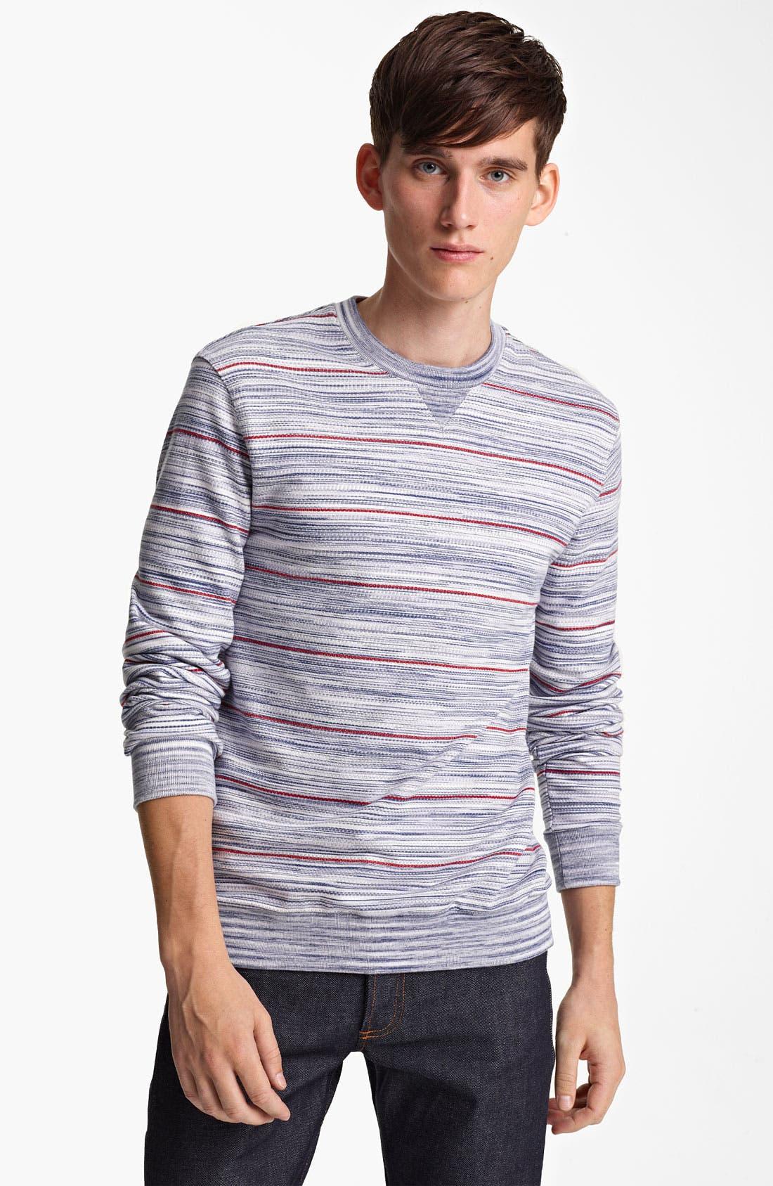 Alternate Image 1 Selected - Missoni Stripe Crewneck Sweatshirt