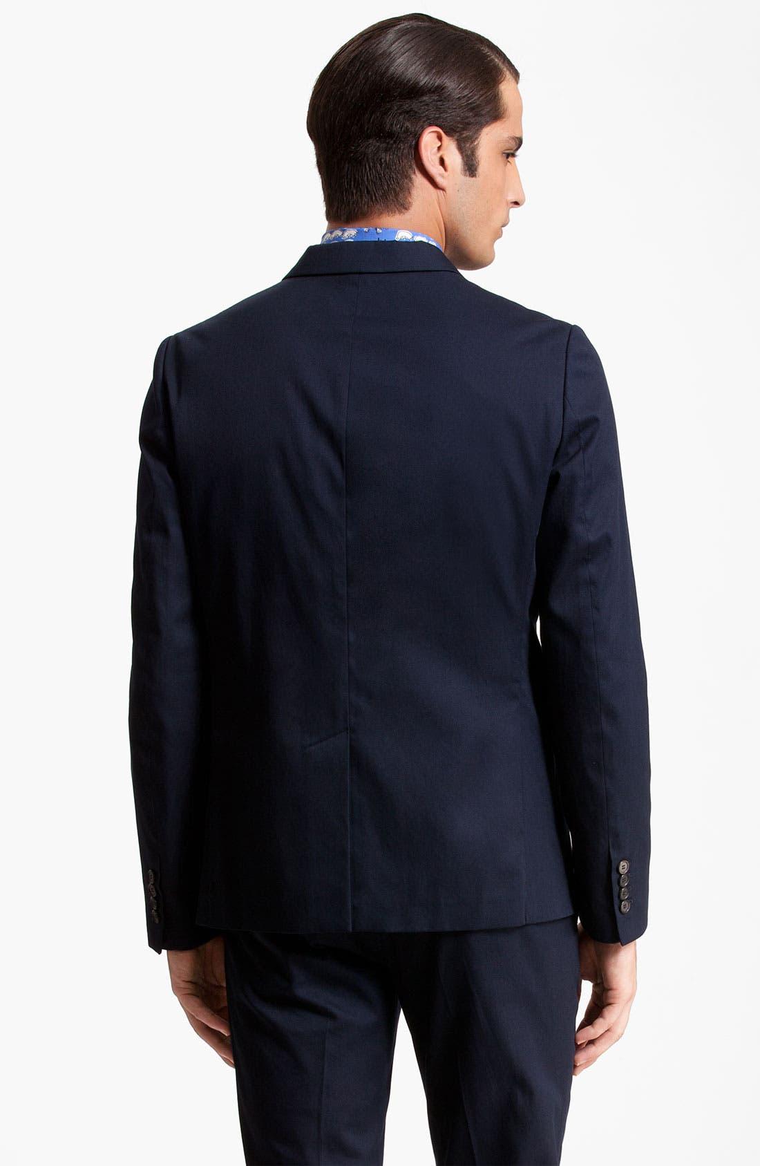 Alternate Image 2  - Marni Three Button Cotton Twill Blazer