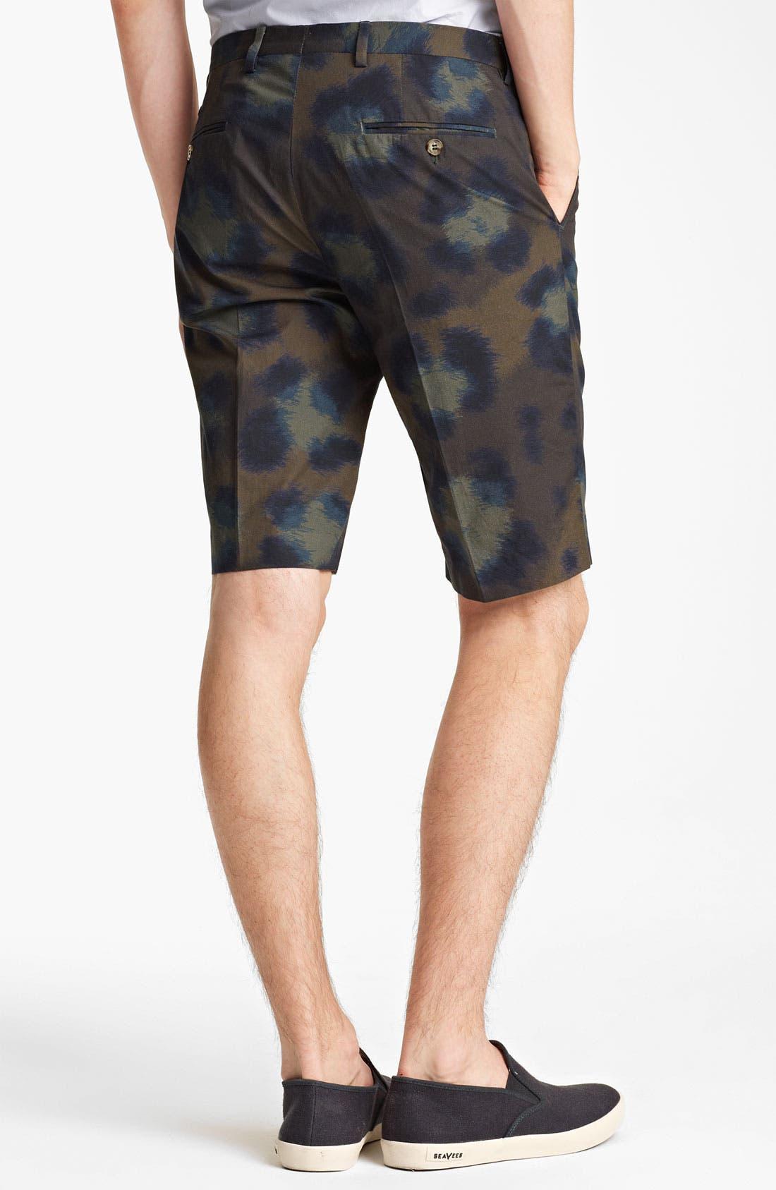 Alternate Image 2  - KENZO Leopard Camo Print Cotton Shorts