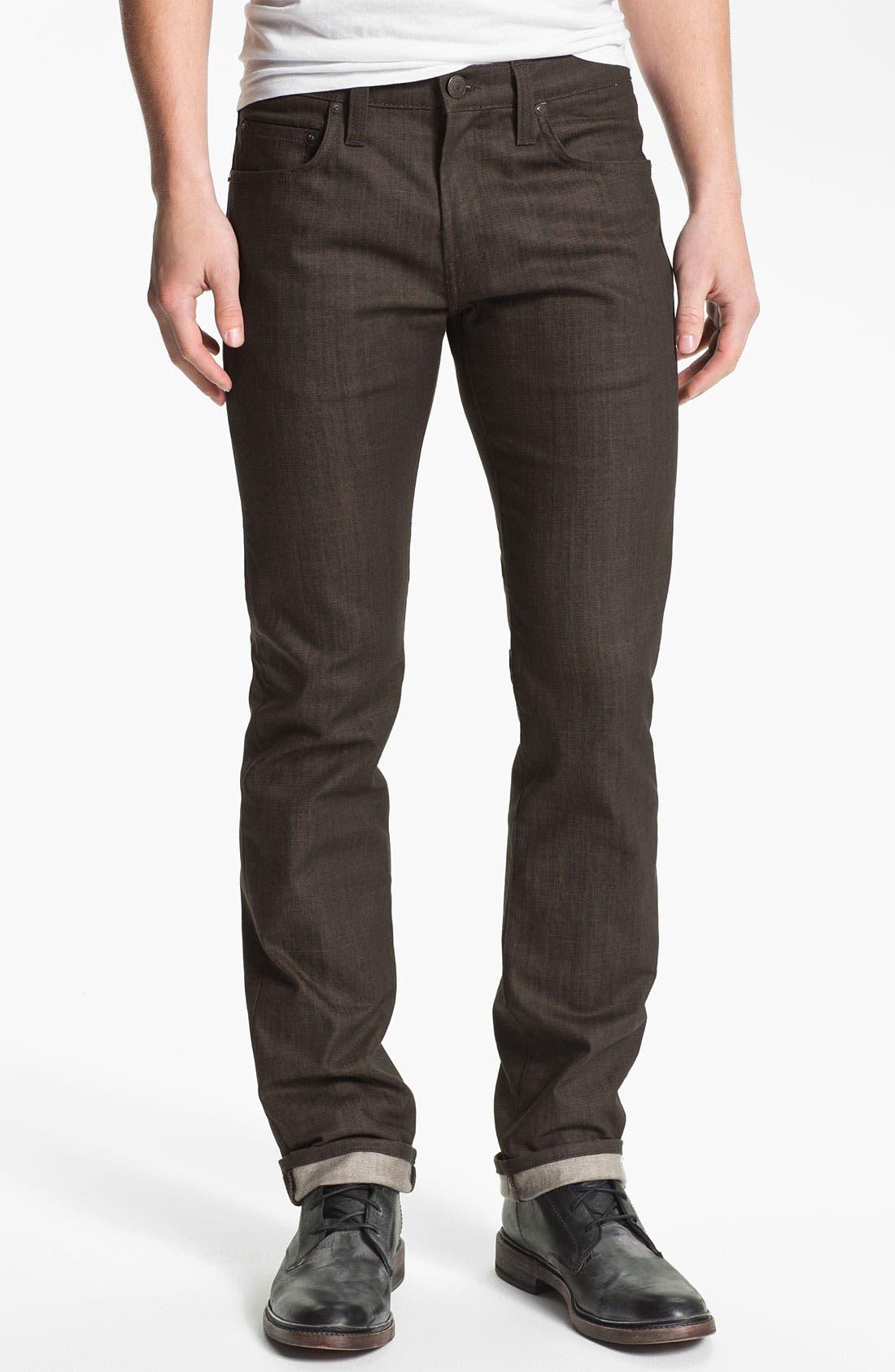 Alternate Image 2  - J Brand 'Kane' Slim Straight Leg Jeans (Flex Raw Scotch)