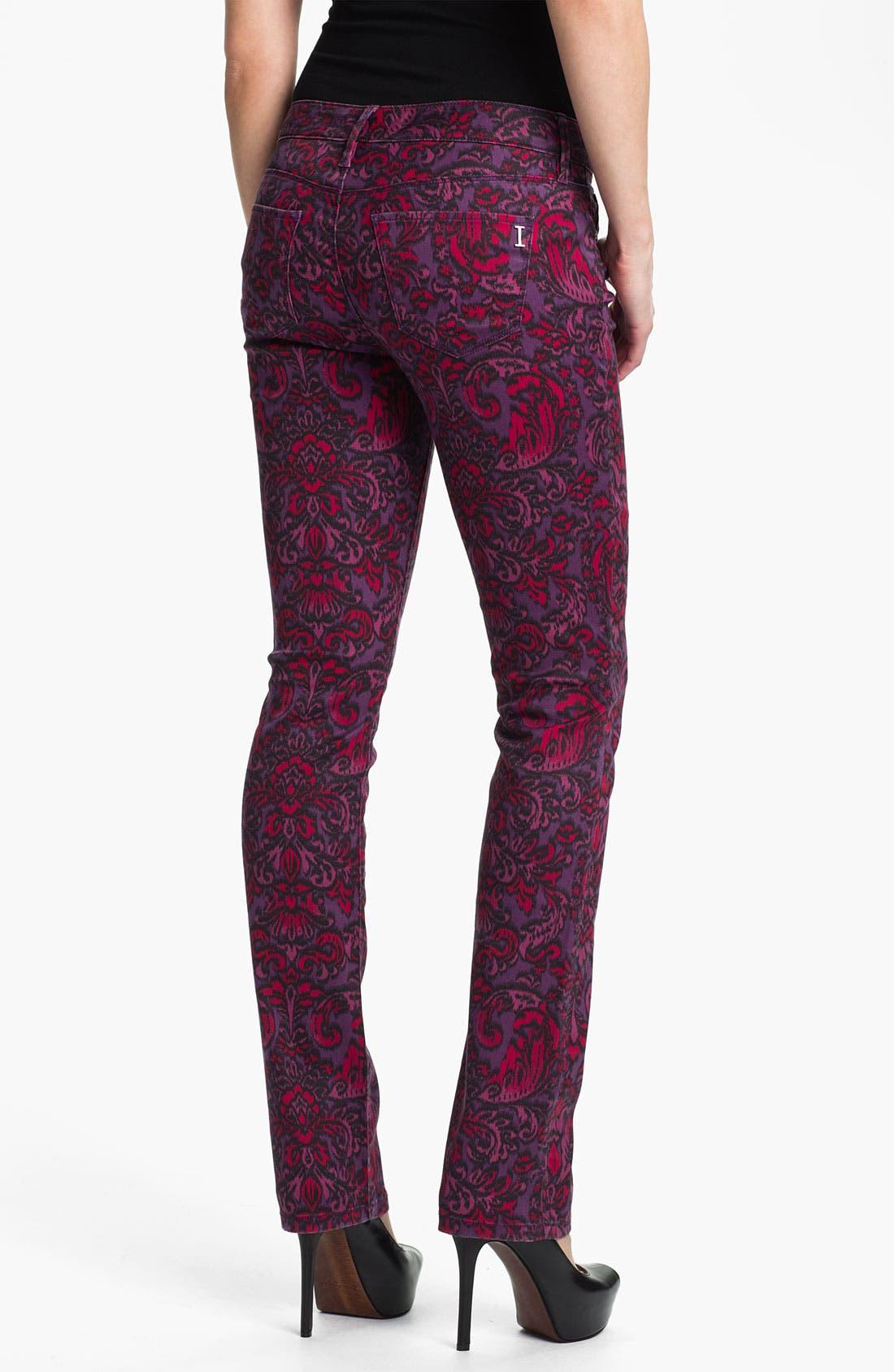 Alternate Image 2  - Isaac Mizrahi Jeans 'Emma' Straight Leg Print Jeans (Online Exclusive)