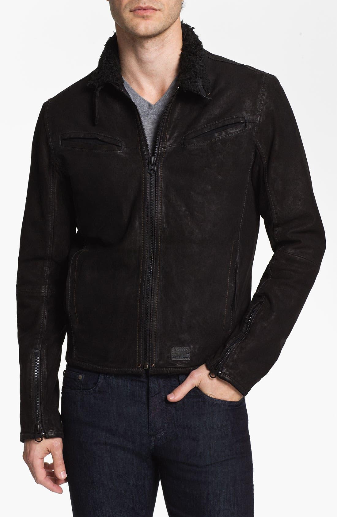 Alternate Image 1 Selected - G-Star Raw 'Saddle' Leather Jacket