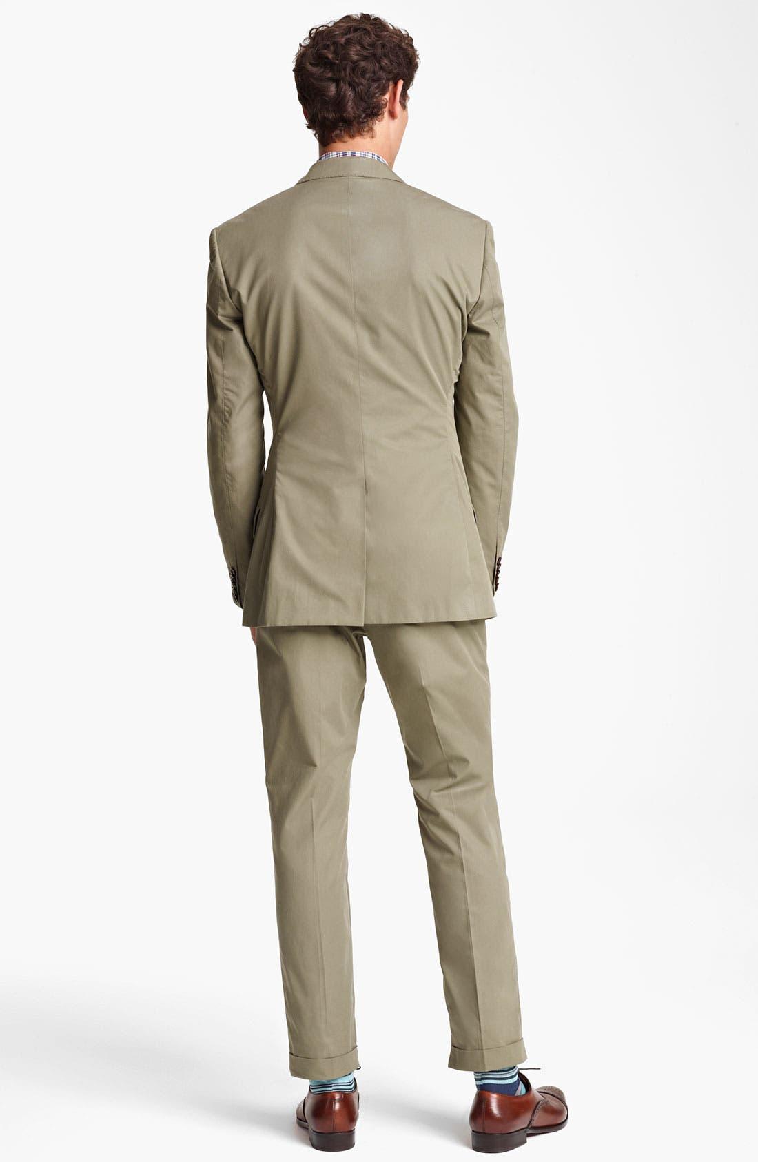 Alternate Image 3  - Paul Smith London Slim Fit Cotton Suit