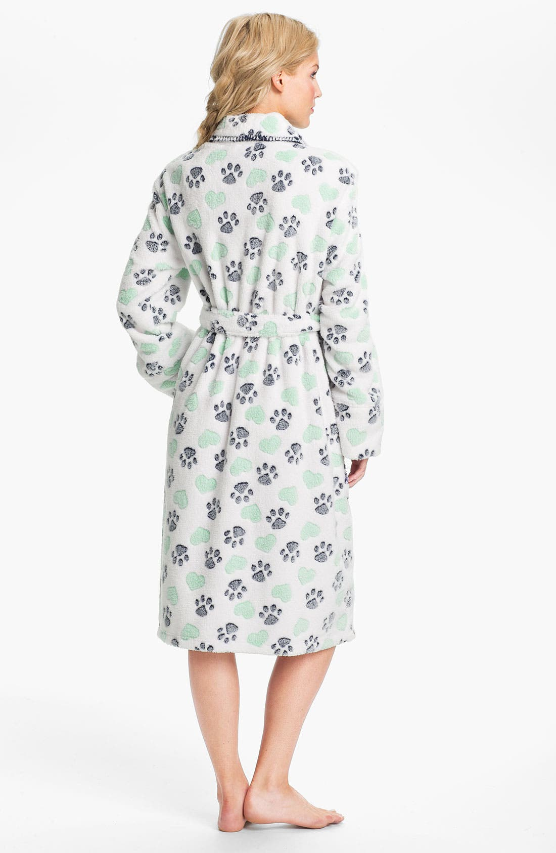 Alternate Image 2  - PJ Salvage Print Fleece Robe
