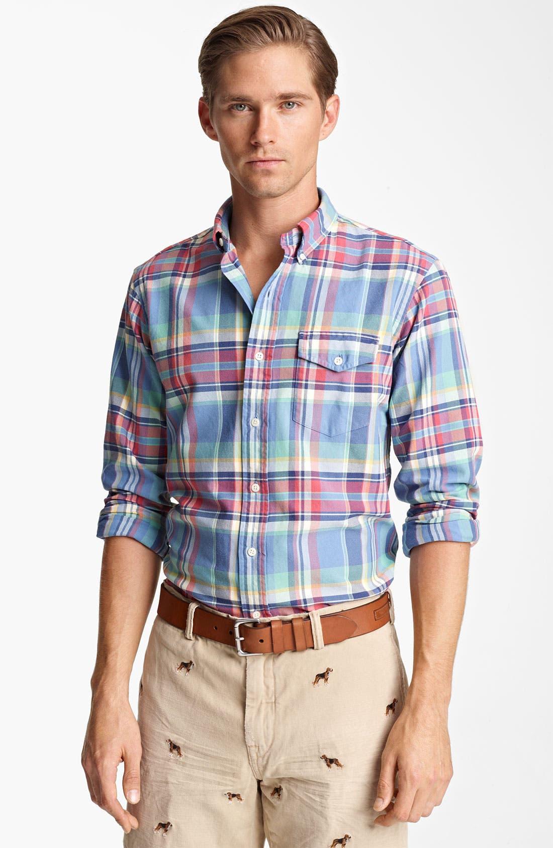 Alternate Image 1 Selected - Polo Ralph Lauren 'Bleecker' Custom Fit Sport Shirt