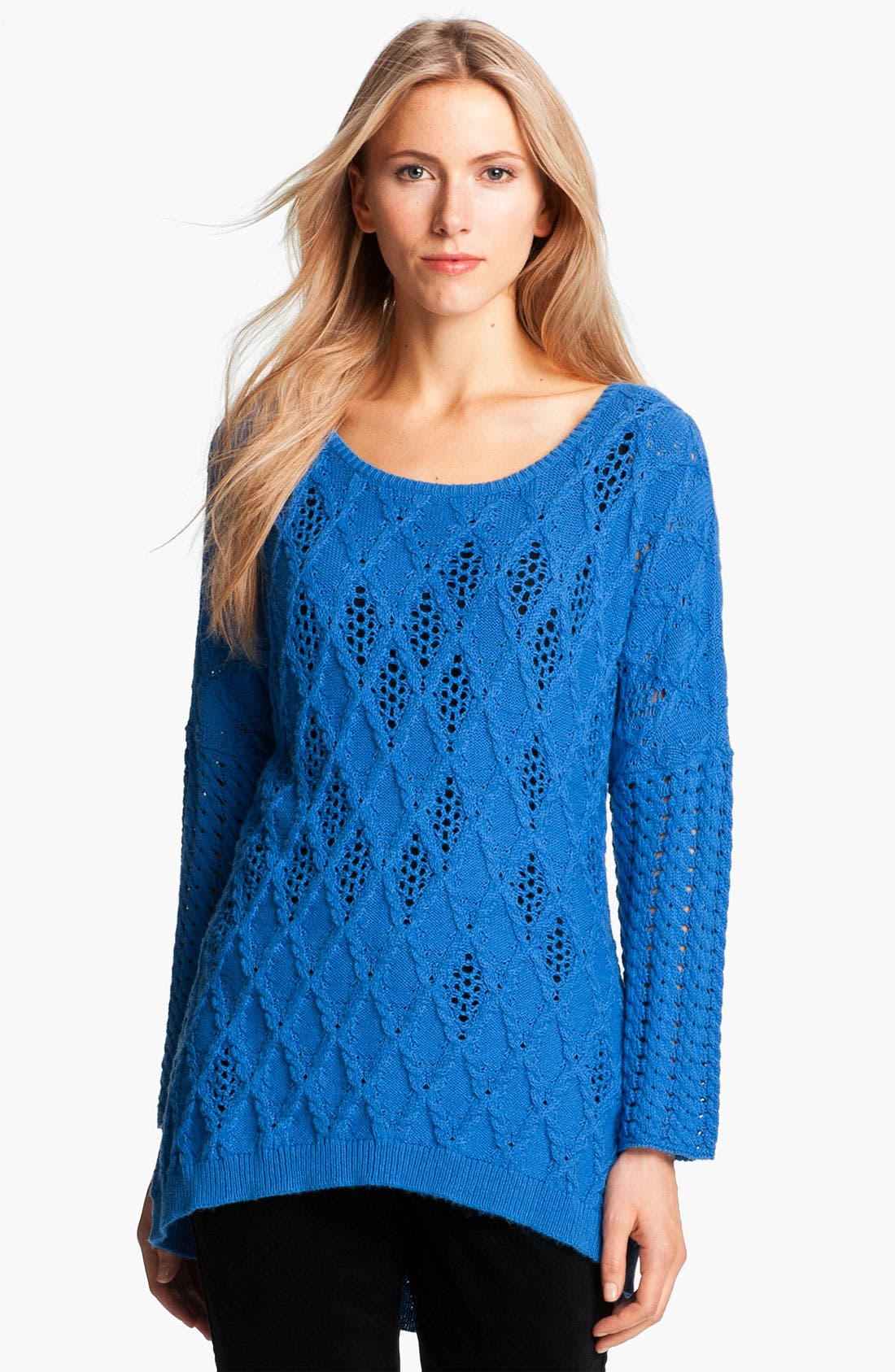 Alternate Image 1 Selected - Nic + Zoe Bateau Neck Mix Knit Sweater