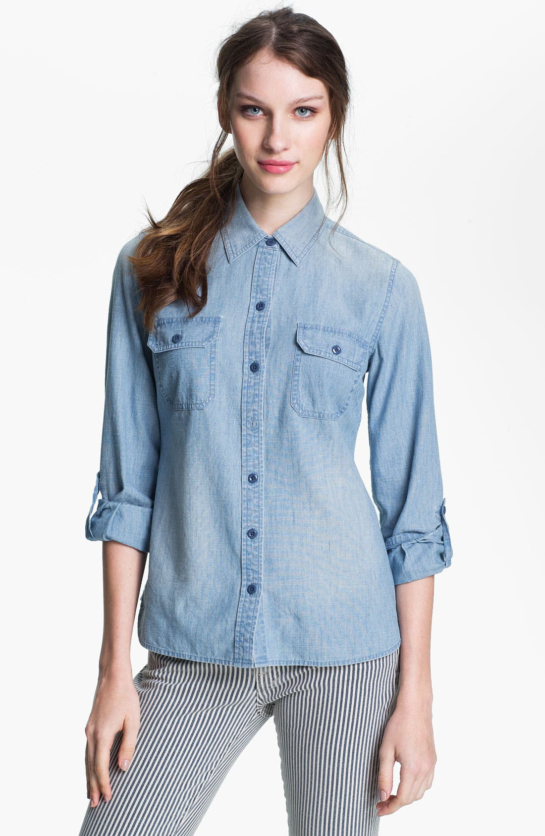 Alternate Image 1 Selected - Lucky Brand 'Brooke' Chambray Shirt