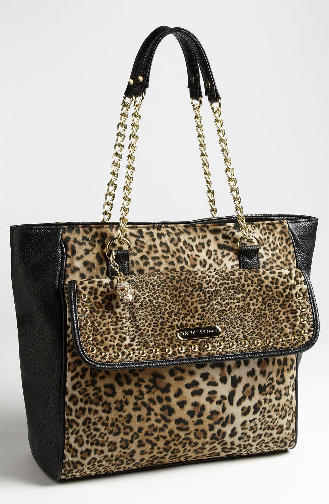 Main Image - Betsey Johnson Mixed Cheetah Print Tote