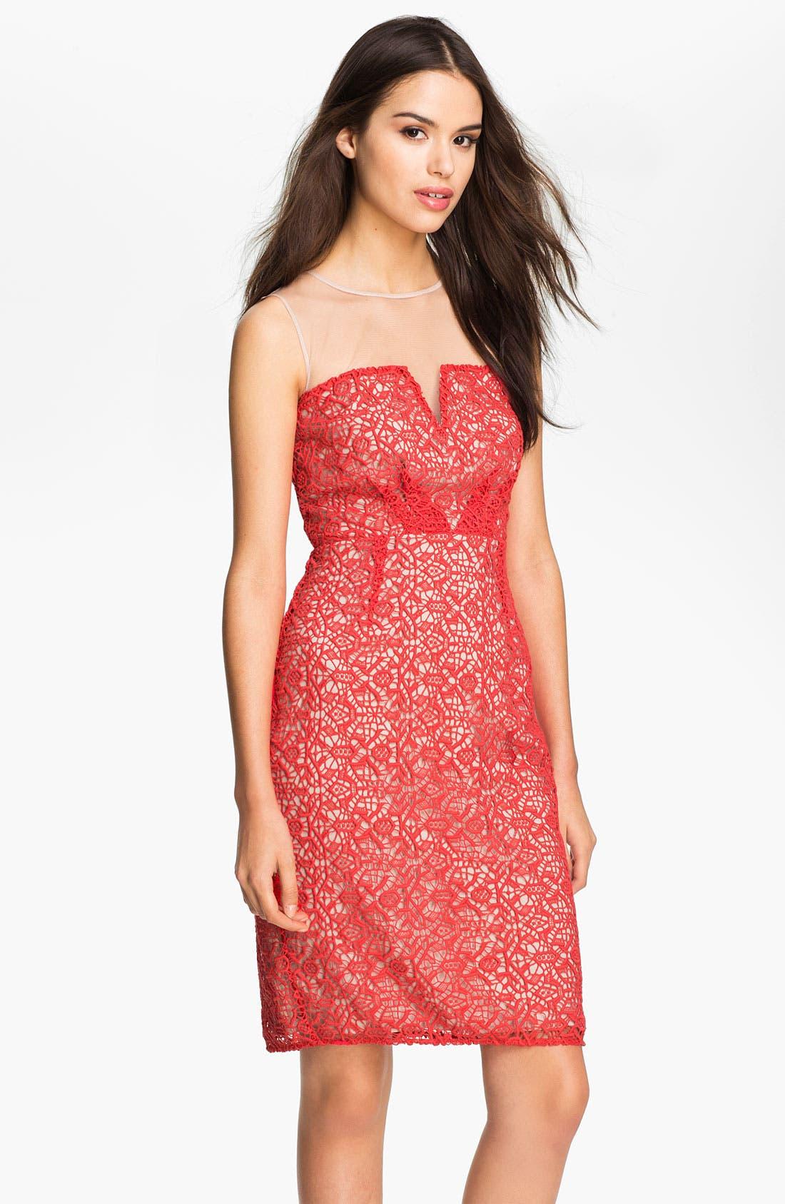 Main Image - ALICE by Temperley 'Alberto' Illusion Yoke Crochet Dress
