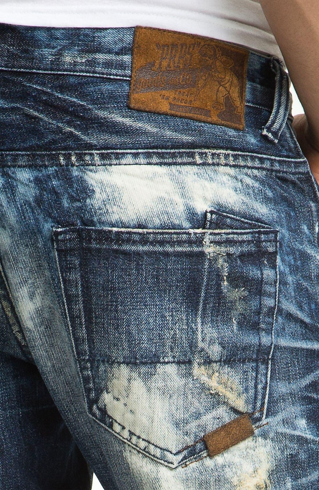 Alternate Image 4  - PRPS 'Valley of Silence Barracuda' Straight Leg Jeans (Indigo)