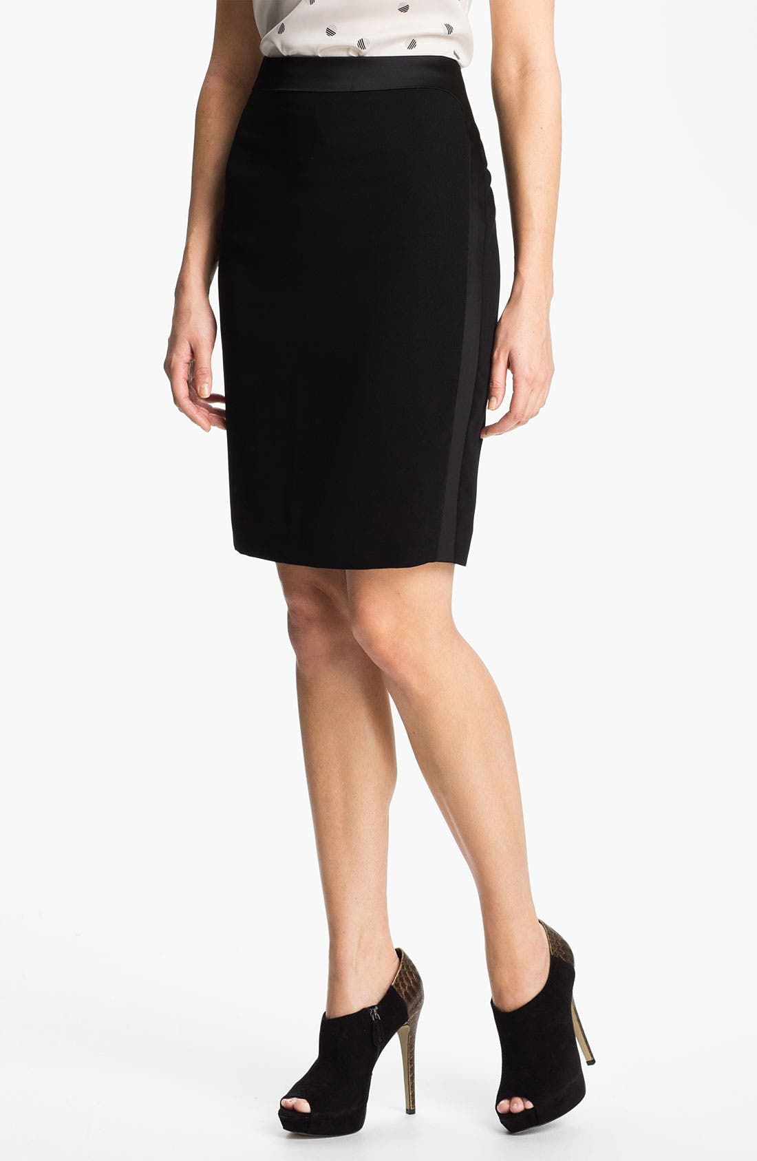 Main Image - Anne Klein Tuxedo Skirt (Petite)
