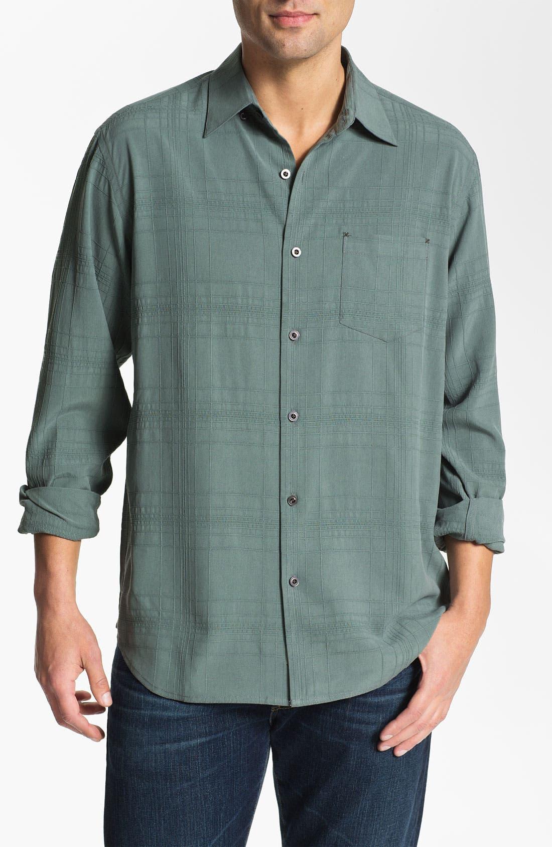 Alternate Image 1 Selected - Tommy Bahama 'Skyscraper' Silk Sport Shirt (Big & Tall)
