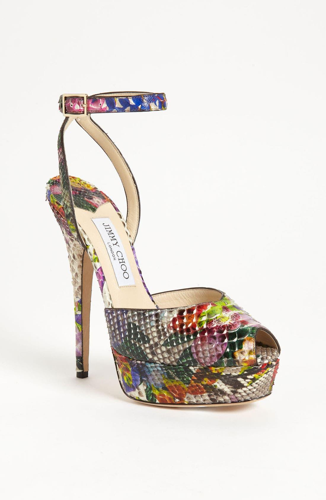 Alternate Image 1 Selected - Jimmy Choo 'Lola' Ankle Strap Sandal