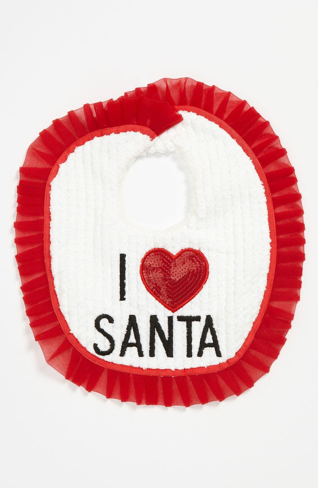 Main Image - Mud Pie 'I Love Santa' Bib
