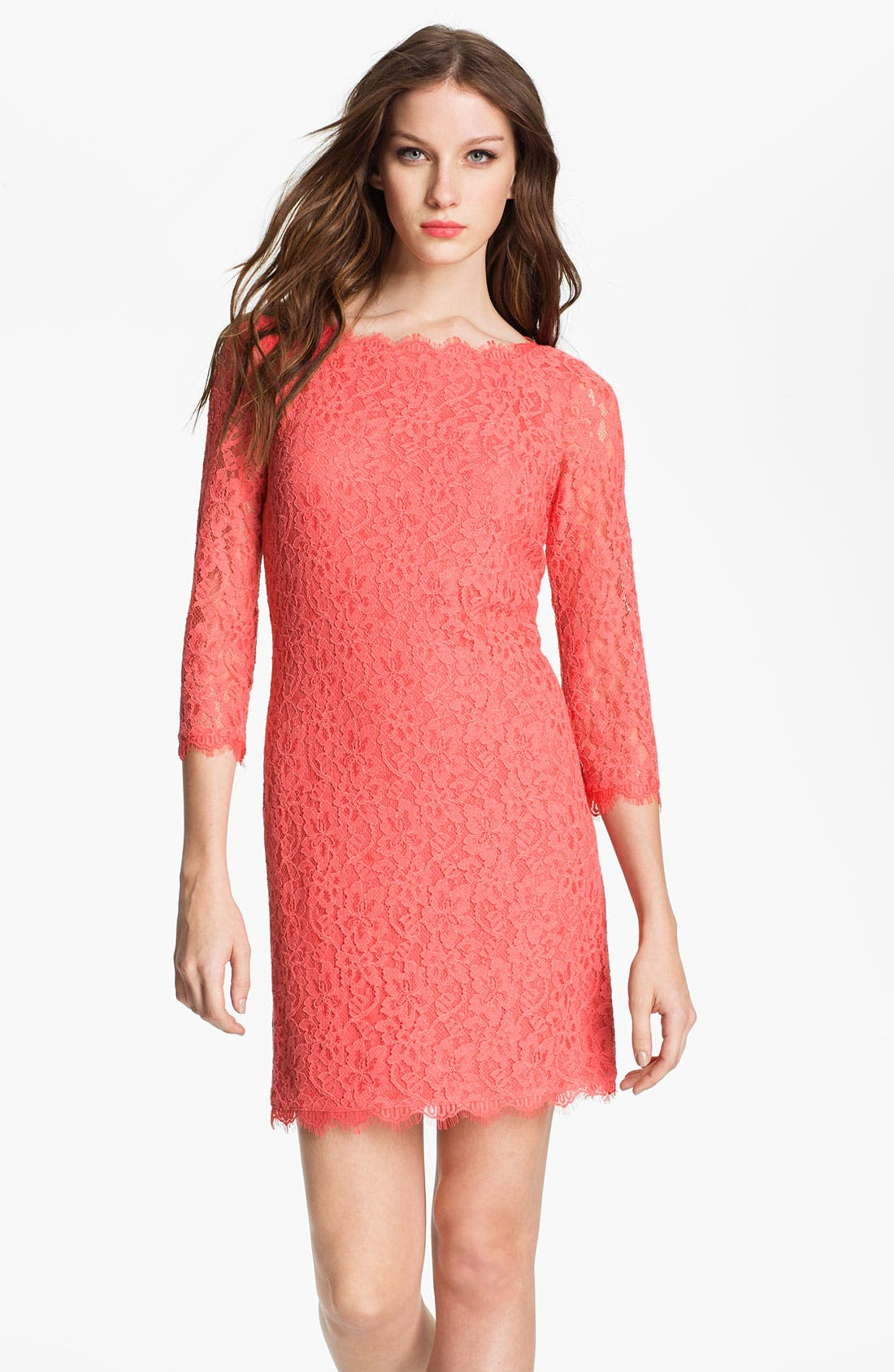 Alternate Image 1 Selected - Diane von Furstenberg 'Zarita' Lace Dress