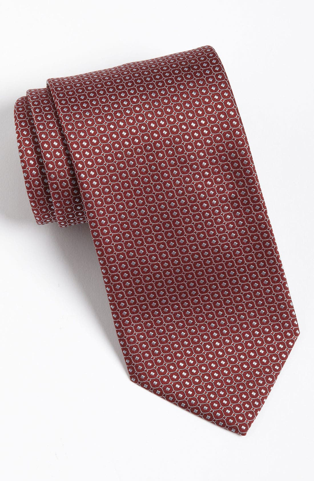Main Image - Yves Saint Laurent Stripes & Dots Silk Woven Tie