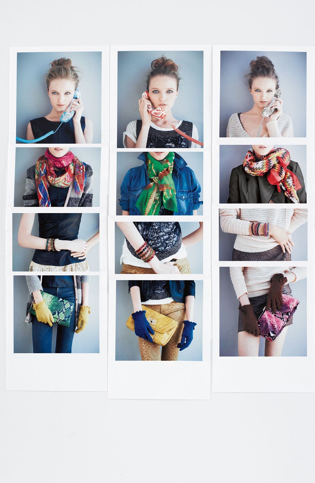 Alternate Image 5  - Natasha Couture Foldover Snake Embossed Clutch