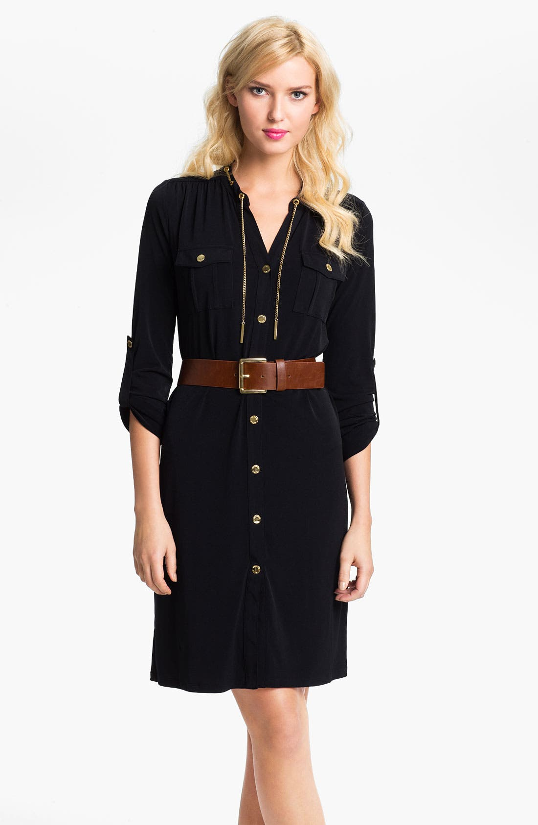 Alternate Image 1 Selected - MICHAEL Michael Kors 'Chain' Shirtdress