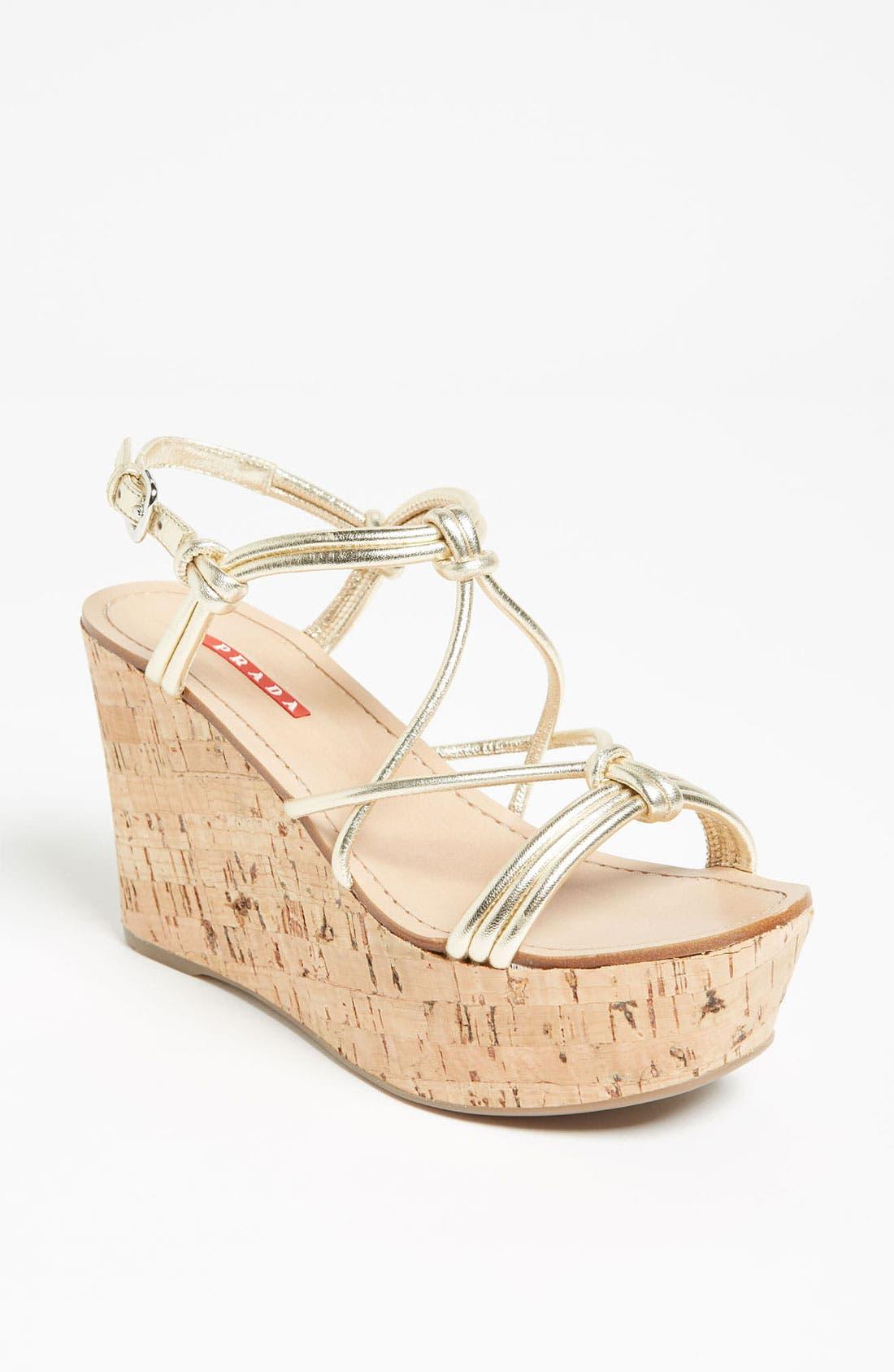 Alternate Image 1 Selected - Prada Cork Wedge Sandal