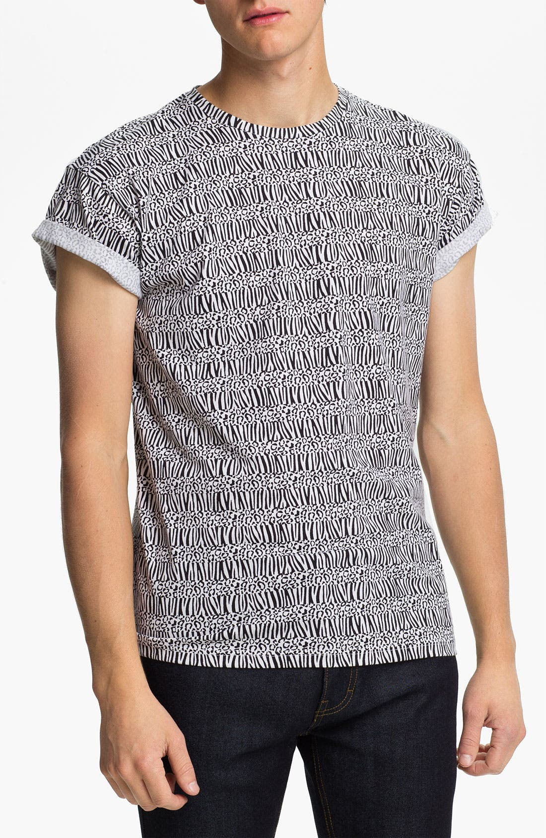 Main Image - Topman 'High Roller' All Over Animal Print T-Shirt