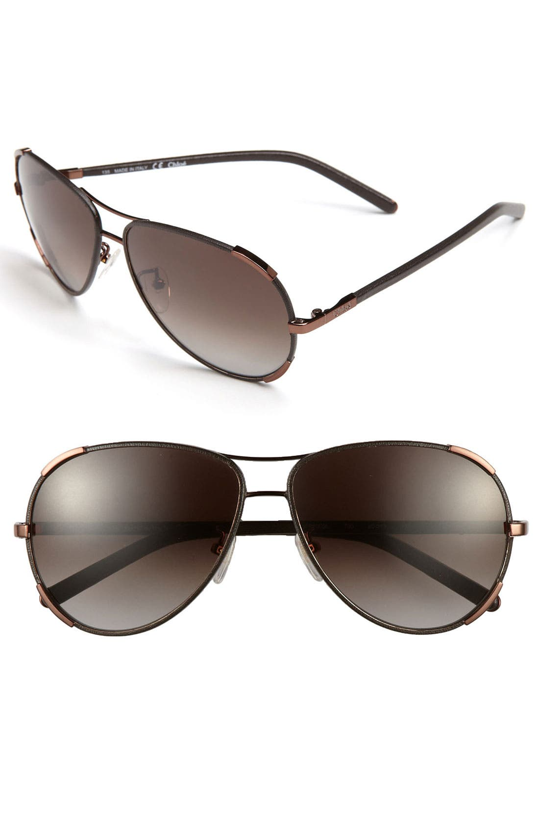 Alternate Image 1 Selected - Chloé 60mm Aviator Sunglasses