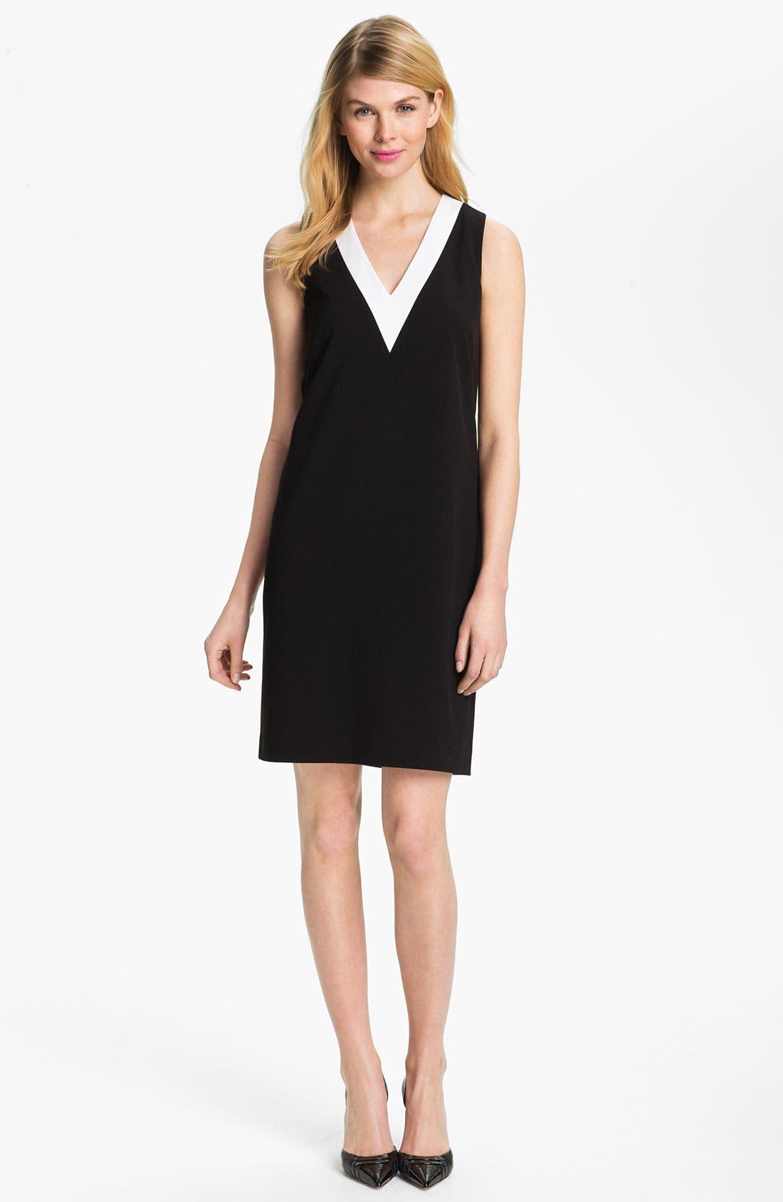Alternate Image 1 Selected - Calvin Klein V-Neck Shift Dress