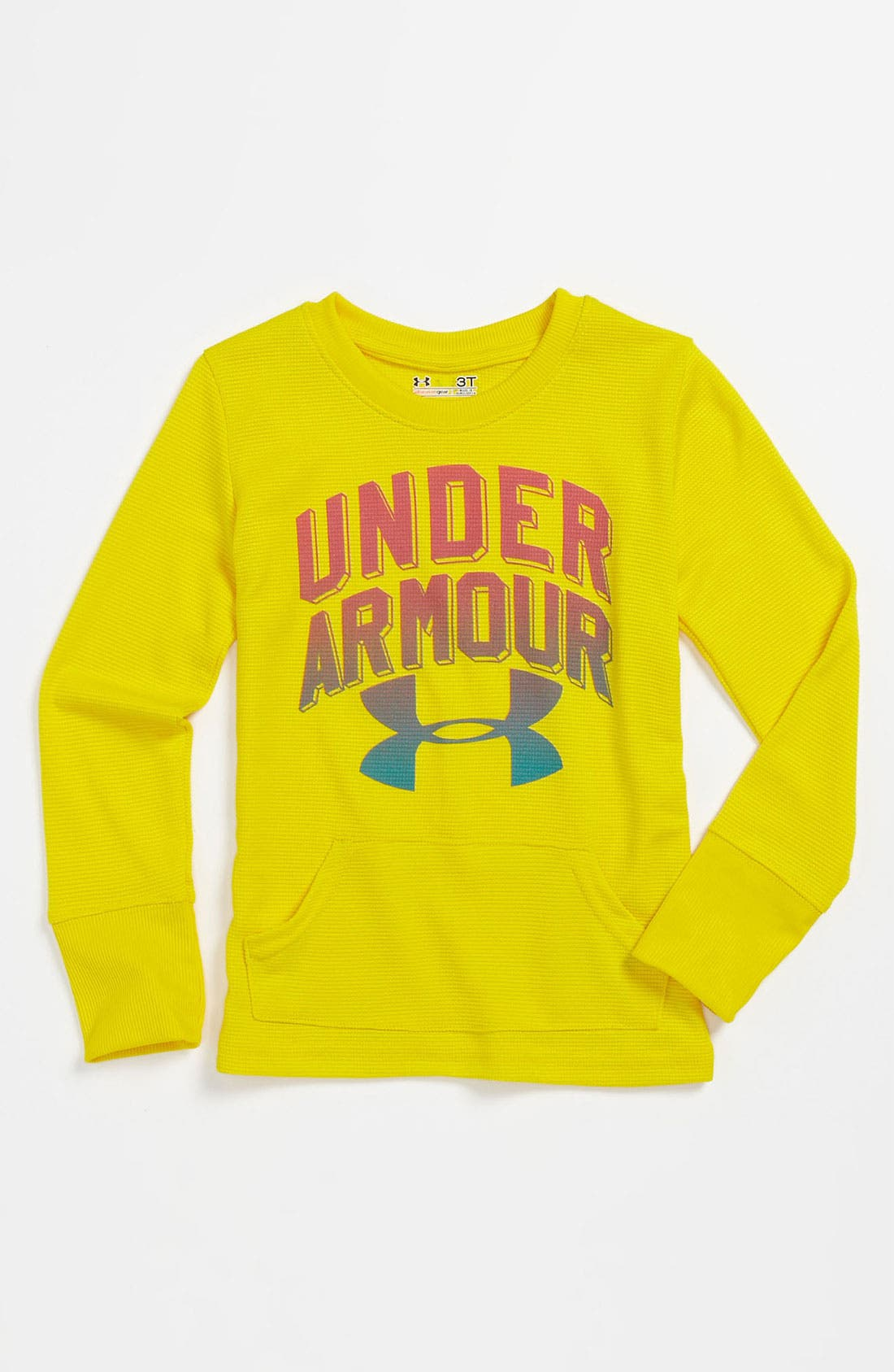 Alternate Image 1 Selected - Under Armour AllSeasonGear® Waffle T-Shirt (Toddler)