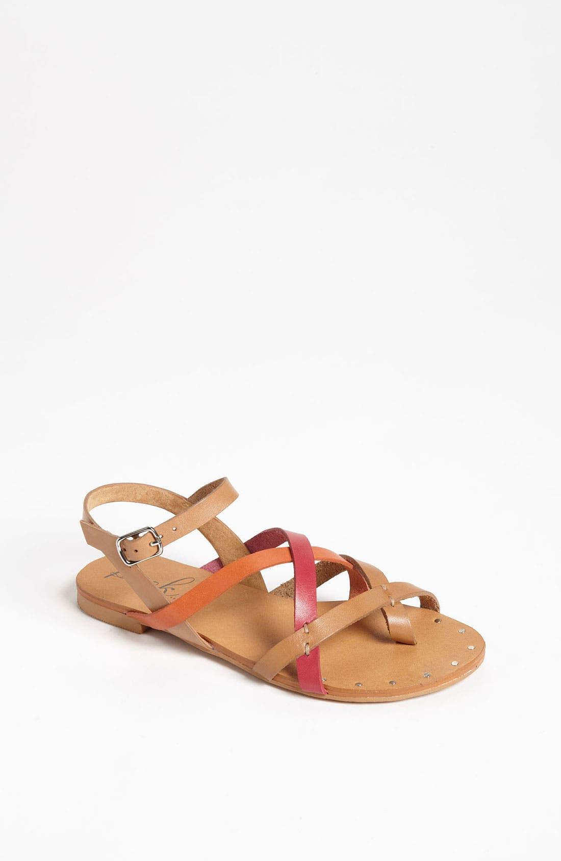 Alternate Image 1 Selected - Peek 'Magnolia' Leather Sandal (Toddler, Little Kid & Big Kid)