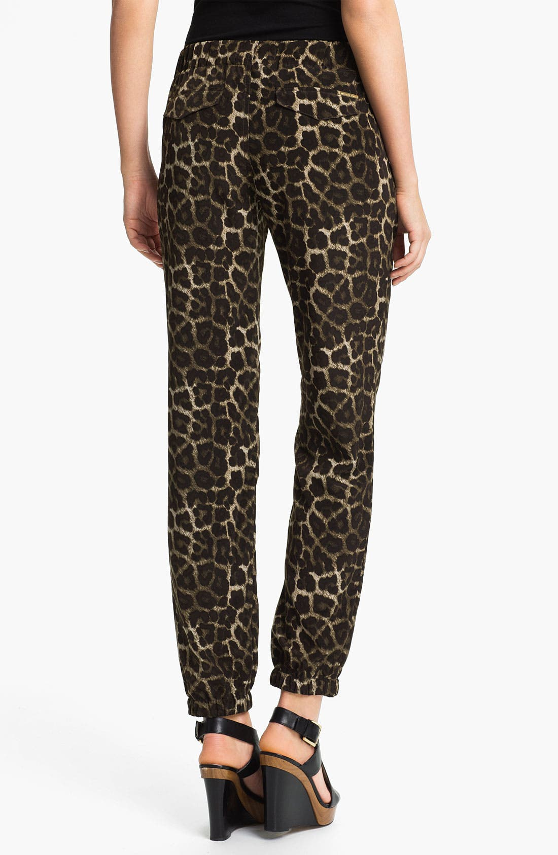 Alternate Image 2  - MICHAEL Michael Kors Leopard Print Pants