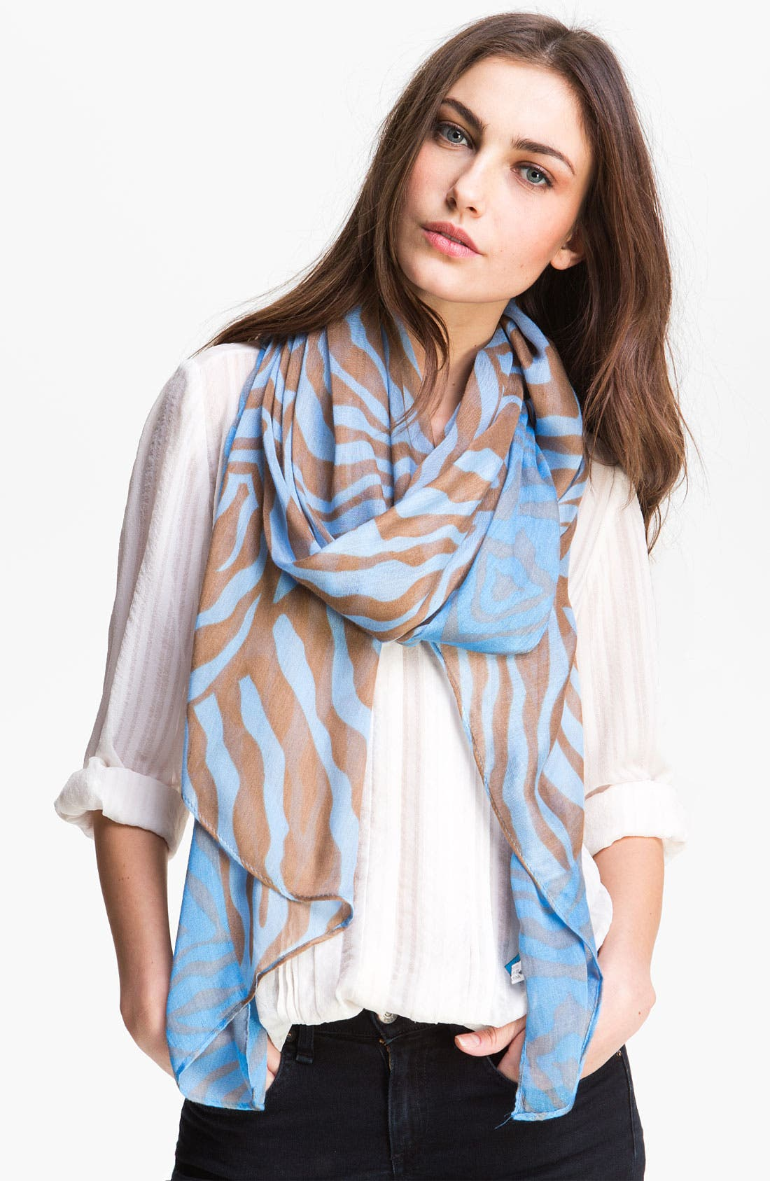 Alternate Image 1 Selected - Tasha 'Zebra Cadabra' Scarf
