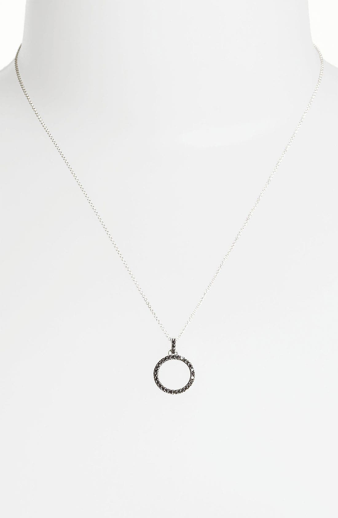 Alternate Image 1 Selected - Bony Levy 'Eclipse' Open Circle Diamond Pendant Necklace (Nordstrom Exclusive)