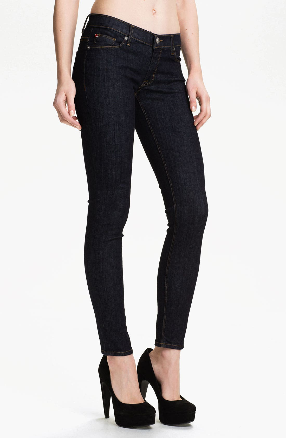 Alternate Image 1 Selected - Hudson Jeans 'Krista' Super Skinny Jeans (Foley)