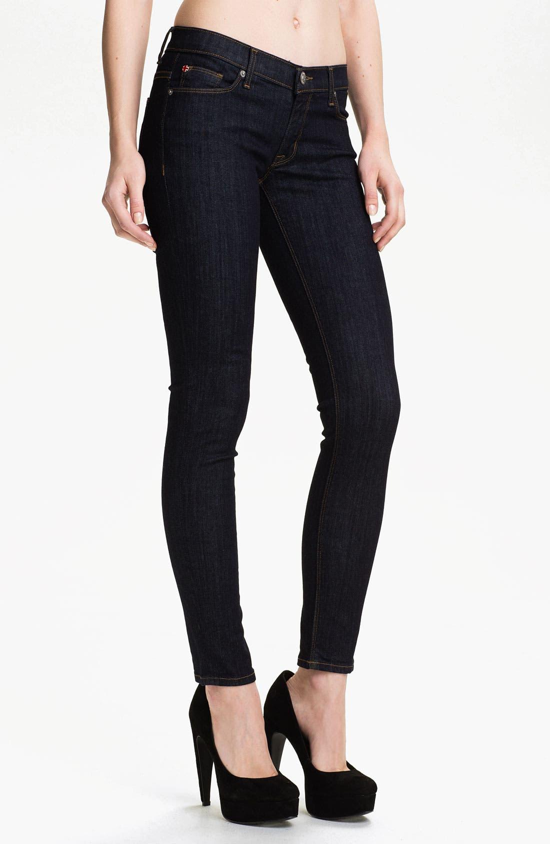 Main Image - Hudson Jeans 'Krista' Super Skinny Jeans (Foley)