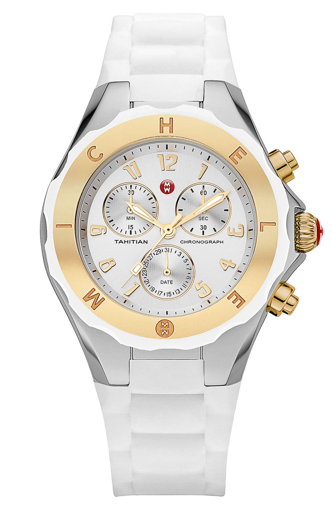 Main Image - MICHELE 'Tahitian Jelly Bean' Two Tone Watch, 40mm