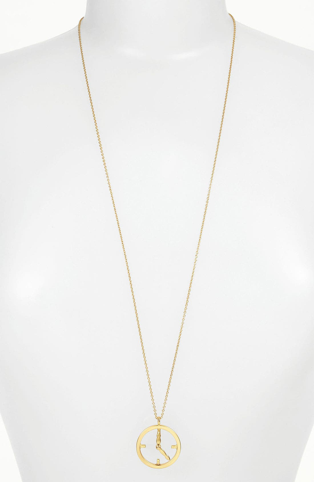 Alternate Image 1 Selected - kate spade new york 'time flies' pendant necklace