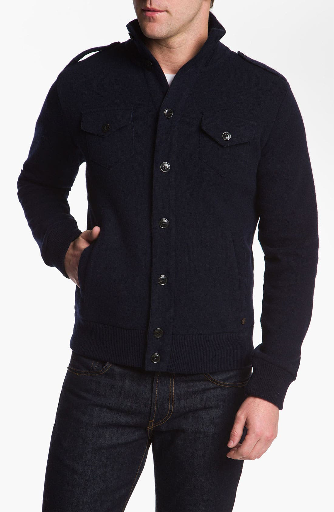 Alternate Image 1 Selected - Woolrich John Rich Wool Blend Button Cardigan
