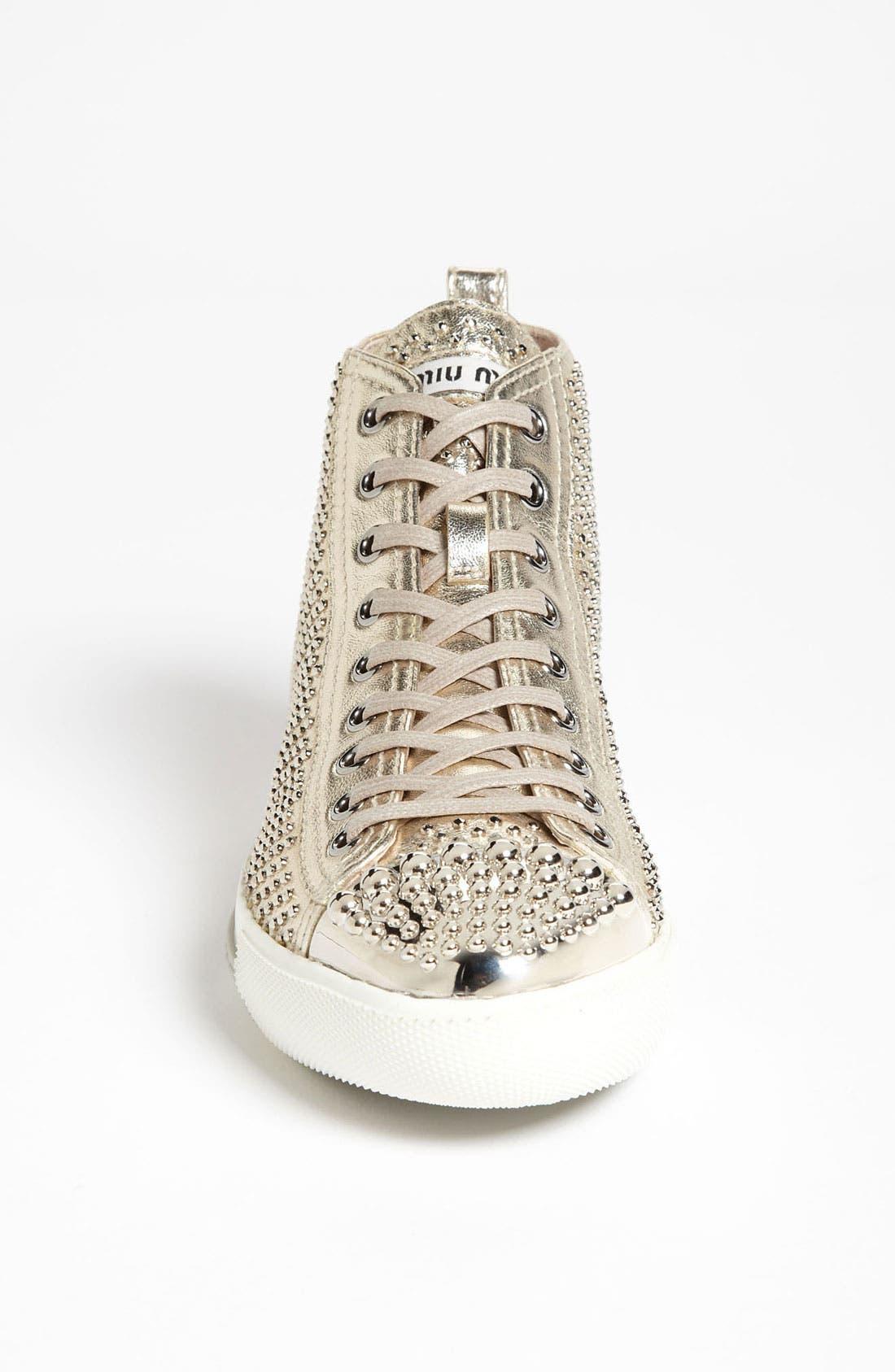 Alternate Image 3  - Miu Miu Metal Toe High Top Sneaker
