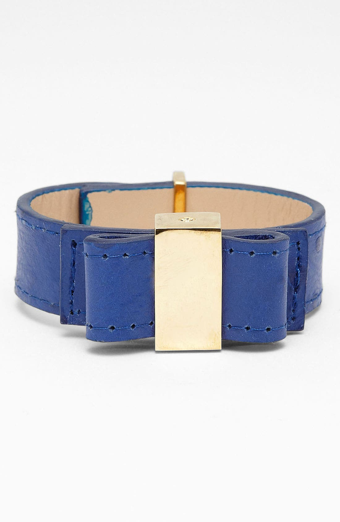 Alternate Image 1 Selected - kate spade new york bow leather bracelet