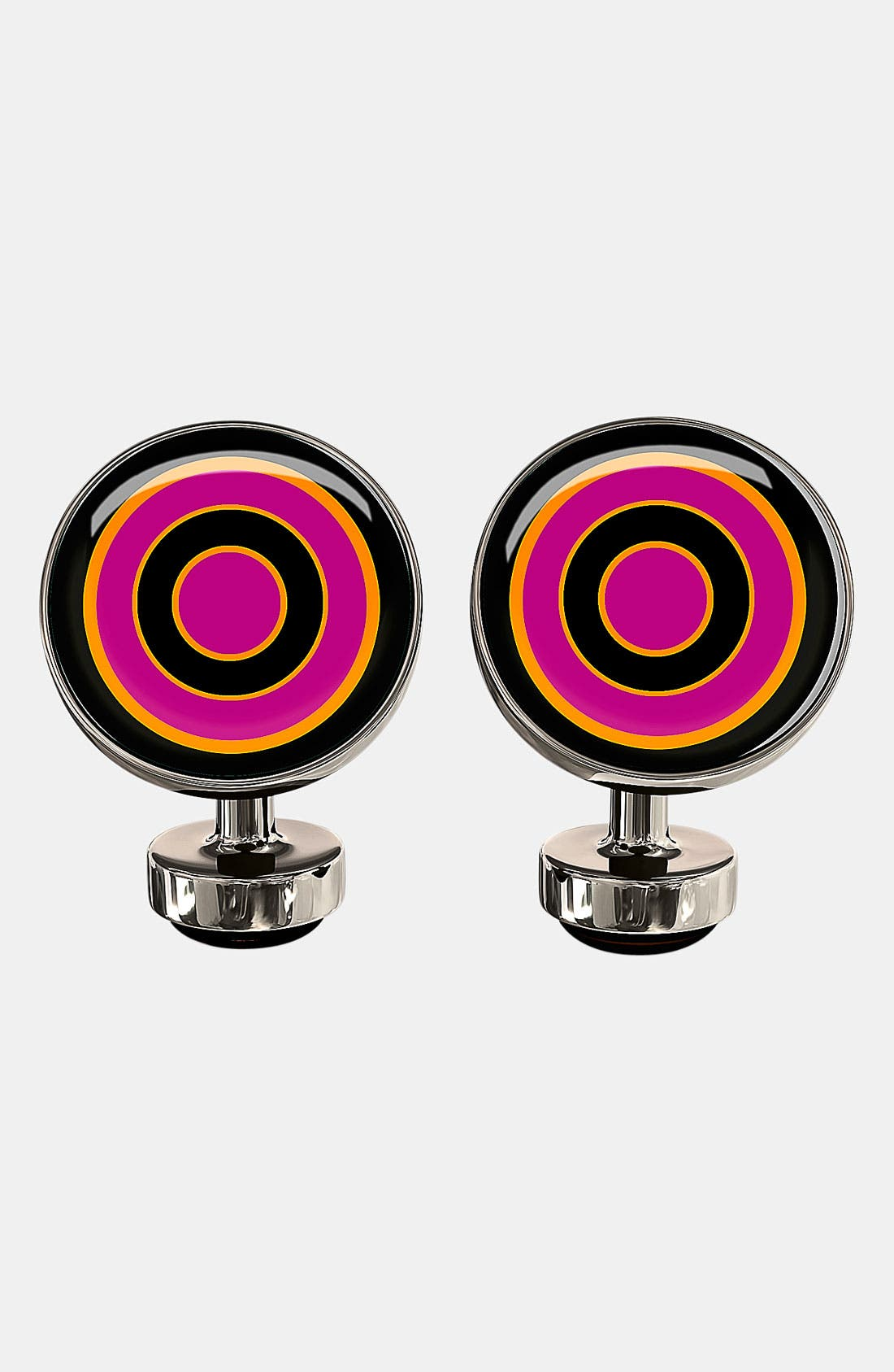 Main Image - Würkin Stiffs 'Bull's Eye Target' Round Cuff Links