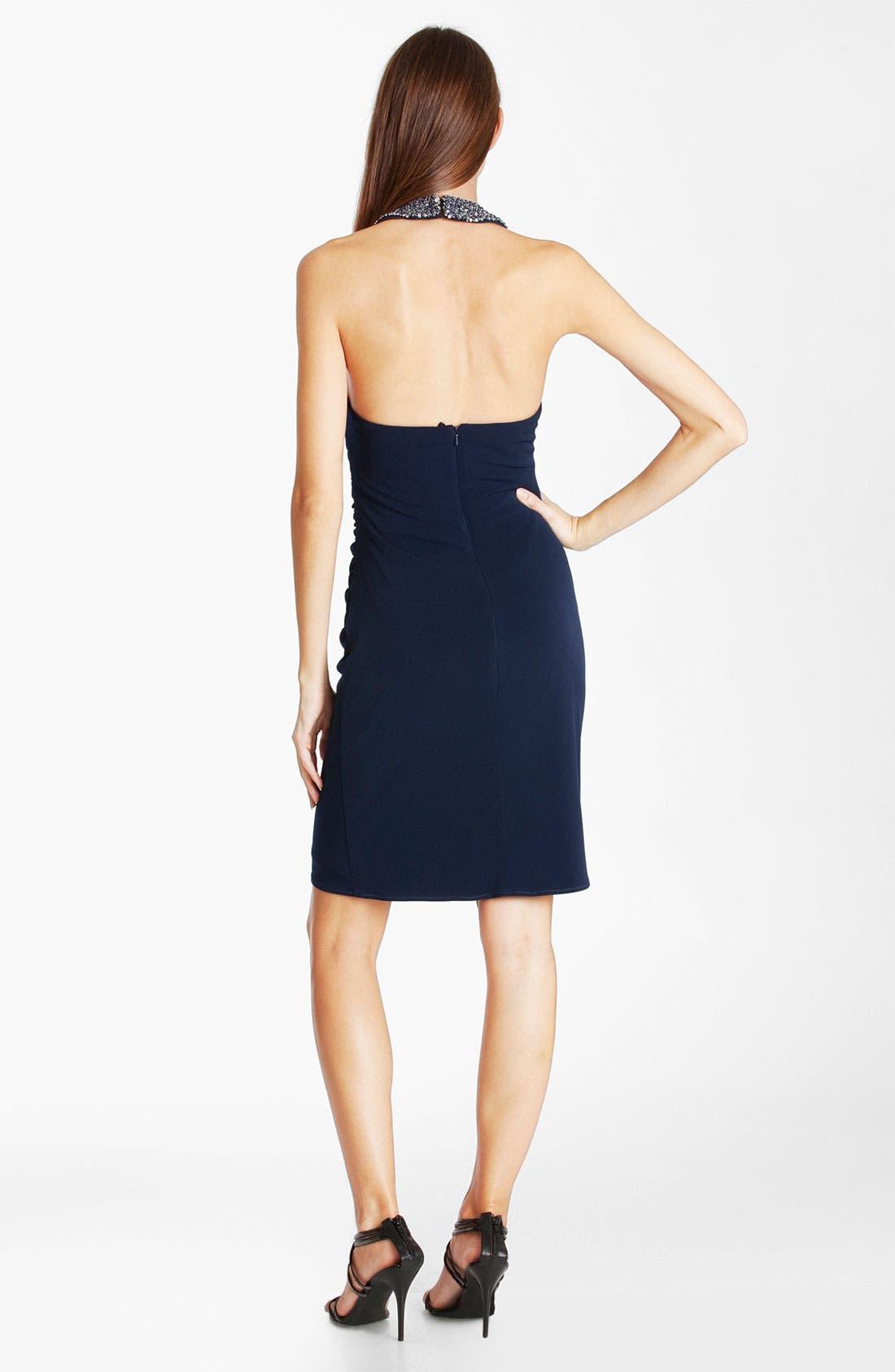 Alternate Image 2  - JS Boutique Beaded Jersey Halter Dress