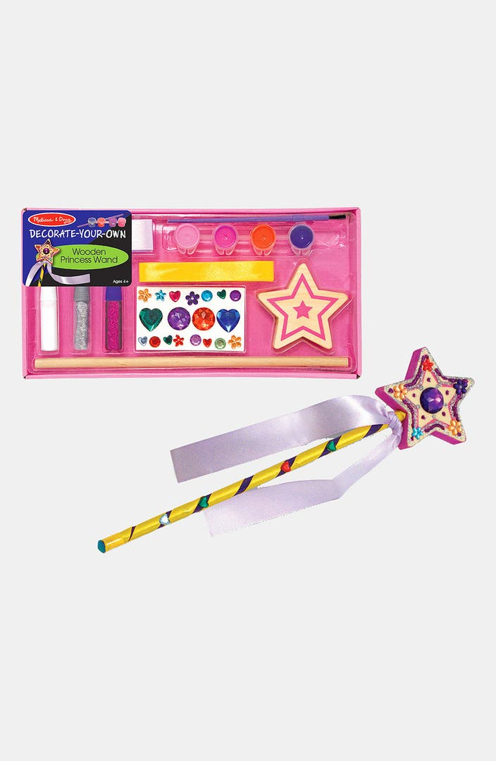 Melissa doug 39 decorate your own 39 wooden princess wand for Princess wand craft kit
